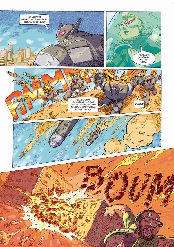 Reseña Hijos de la Ira, páginas interiores del cómic